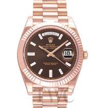 롤렉스 (Rolex) Day-Date 40 Chocolate/18k Rose Gold G 40mm - 228235
