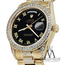 Ρολεξ (Rolex) Yellow Gold Presidential Day Date 36mm Black...