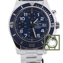 Breitling Superocean Chronograph 42mm Blue Dial NEW