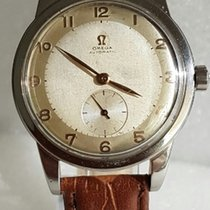 Omega Large Automatic Bumper Stainless Steel Watch 1949