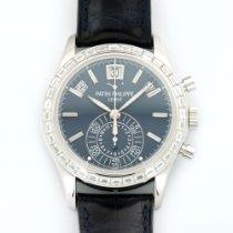 Patek Philippe Platinum Chronograph Baguette Diamond Watch...
