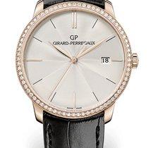 Girard Perregaux 1966 38MM Pink Gold Strap Black Topping Diamonds