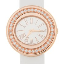 Piaget Possession 18 K Rose Gold With Diamonds Silver Quartz...