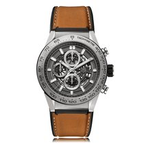 TAG Heuer Carrera Automatic Stainless Steel Grey Dial Mens...
