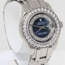 Rolex Womens Pearlmaster 80299 18K White Gold/Diamond Watch...