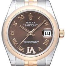 Rolex Datejust 31 Edelstahl Everose 178241 Choco R DIA...