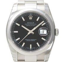 Rolex Oyster Datejust 36 Ref. 116200 Schwarz Index