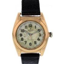 Rolex Vintage Rolex Oyster Perpetual 18k Rose Gold 3131 Bubble...