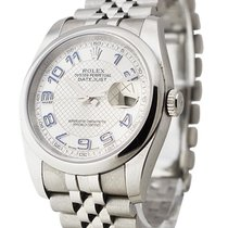 Rolex Used 116200_used_silver_blue_arabics Datejust 36mm in...