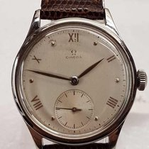 Omega Suveran stainless steel caliber 30t2 wristwatch dated 1944