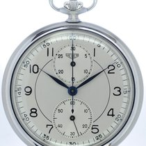 Heuer Mans Pocket Watch Chronograph