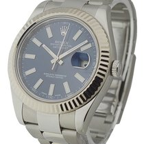 Rolex Used 116334_used_blue_stick Datejust II 41mm Ref 116334...