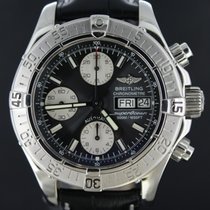 Breitling Superocean Chronograph Steel Black Dial 42MM Full...