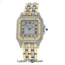 Cartier Ladies  Cartier Panthere 166921 Three Row 18K Gold Steel
