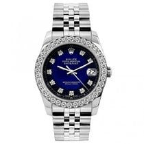 Rolex Datejust Ladies' 26mm Blue And Black Dial Stainless...