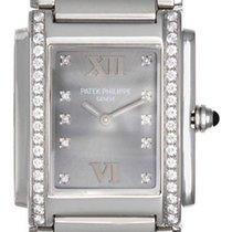 Patek Philippe Twenty-4 Ladies Steel & Diamond Watch 4910 10A