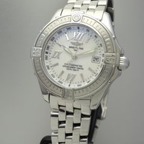 Breitling Windrider B-Class Perlmutt/ Mother of Pearl -Stahl/...