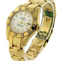 Rolex Used 80318 Ladys YG Masterpeice with 12 Diamond Bezel -...