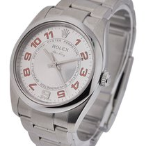 Rolex Used 114200_used_white_arabic_orange New Style Air King...