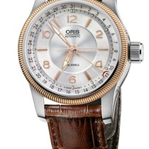 Oris Big Crown Pointer Date, Guilloche Dial, Gold, Leather