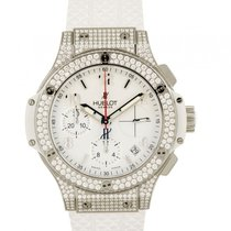 Hublot Big Bang Chronograph Stahl White Kautschuk Diamond 41mm