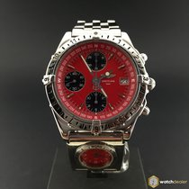 Breitling Chronomat Longitude Chronograph Red Dial  UTC