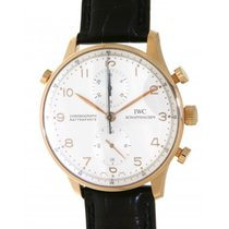 IWC Portoghese Chrono Rattrapante Iw371203 Red Gold, Leather