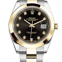 Rolex DATEJUST, BLACK DIAL WITH DIAMONDS