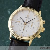 Omega 18k (0,750) Gold De Ville Chronograph Handaufzug Herrenuhr