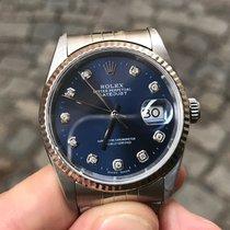 Rolex Datejust Diamonds diamanti Zaffiro oro gold 36 mm zaffiro