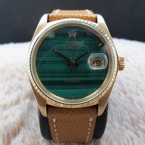 Rolex DATEJUST 16018 18K YG with Original Malachite Dial