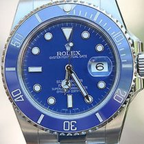 Rolex Stainless Steel Submariner W/ Custom Blue Dial &...