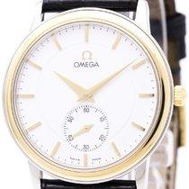 Omega Polished Omega De Ville Prestige 18k Gold Steel Hand-win...