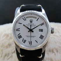Rolex DAY-DATE 1803 18K White Gold with Original White Buckley...
