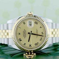Rolex Datejust 2-Tone Gold/Steel Champagne Roman Dial 36MM...