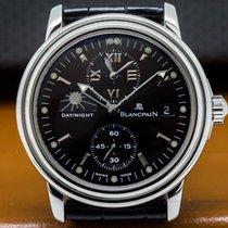 Blancpain 2160-1130-53 Leman Timezone Dual Time SS Black Dial...
