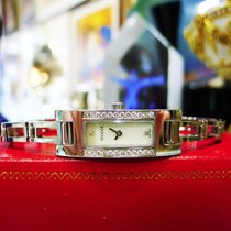 Gucci Ref. 3900l Stainless Steel Mother Of Pearl Dial Diamond...