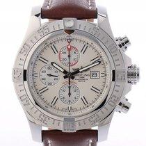 Breitling Super Avenger II Stahl Automatik Chronograph Armband...