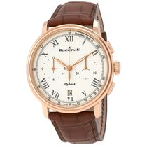 Blancpain Chronograph Flyback Pulsometre White Dial Brown...