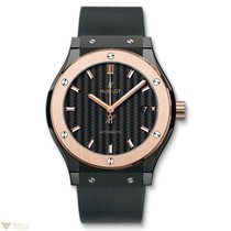 Hublot Classic Fusion Black Magic Ceramic 18k Rose Gold...