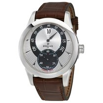 Perrelet Jumping Hour Automatic Brown Leather Men's Watch