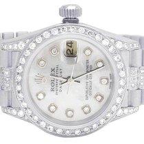 Rolex Ladies 18K White Gold Rolex Presidential Datejust 26mm...
