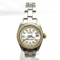 Rolex Oyster Perpetual Datejust Ss Ladies Watch W/ 18k Yellow...