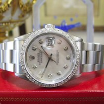 Rolex Oyster Perpetual Datejust 36mm Diamonds Mother-of-pearl...