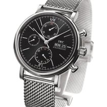 IWC IW391010 Portofino Chronograph in Steel - on Steel...