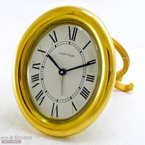 Cartier Baignoire Alarm Table Clock Quartz Gold Plated Brass...