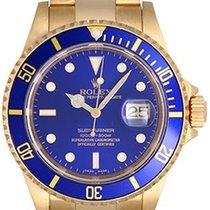 Rolex Submariner 18k Gold Men's Diver's Sport Watch...
