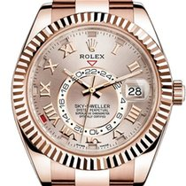 Rolex Sky-Dweller 326935 Men's 42mm Sundust Roman 18k Rose...