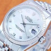 롤렉스 (Rolex) Rolex 18K Pearl DateJust Automatic Midsize Watch