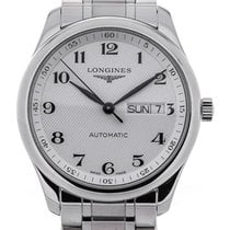 Longines Master 38.5 Day Date Guilloche Dial
